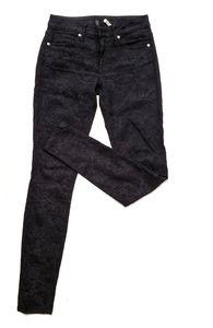 BB Dakota Flower Printed Black Jeans 26